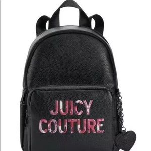 New Juicy Couture All Nighter Black mini Backpack